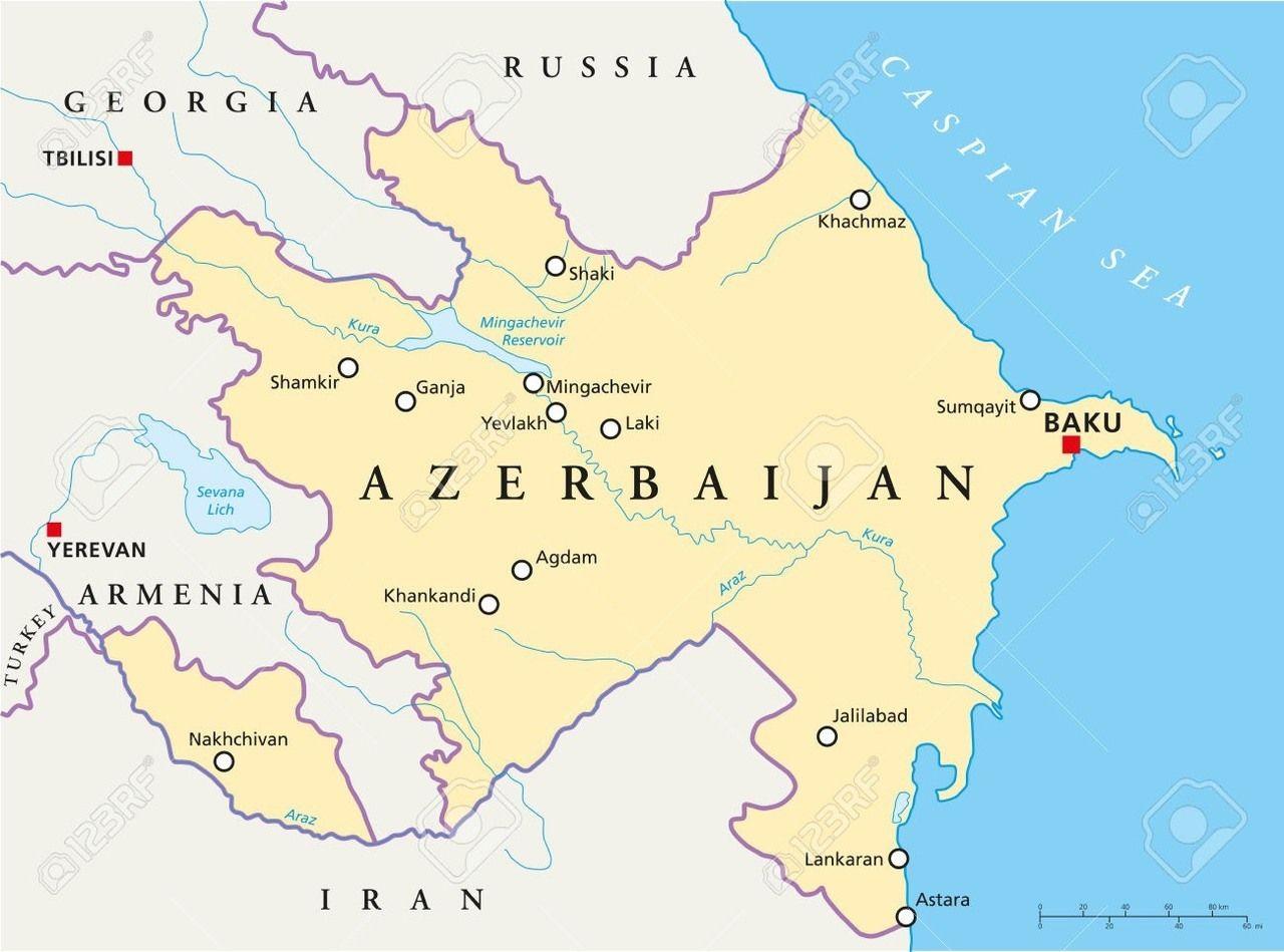 نقشه آذربایجان