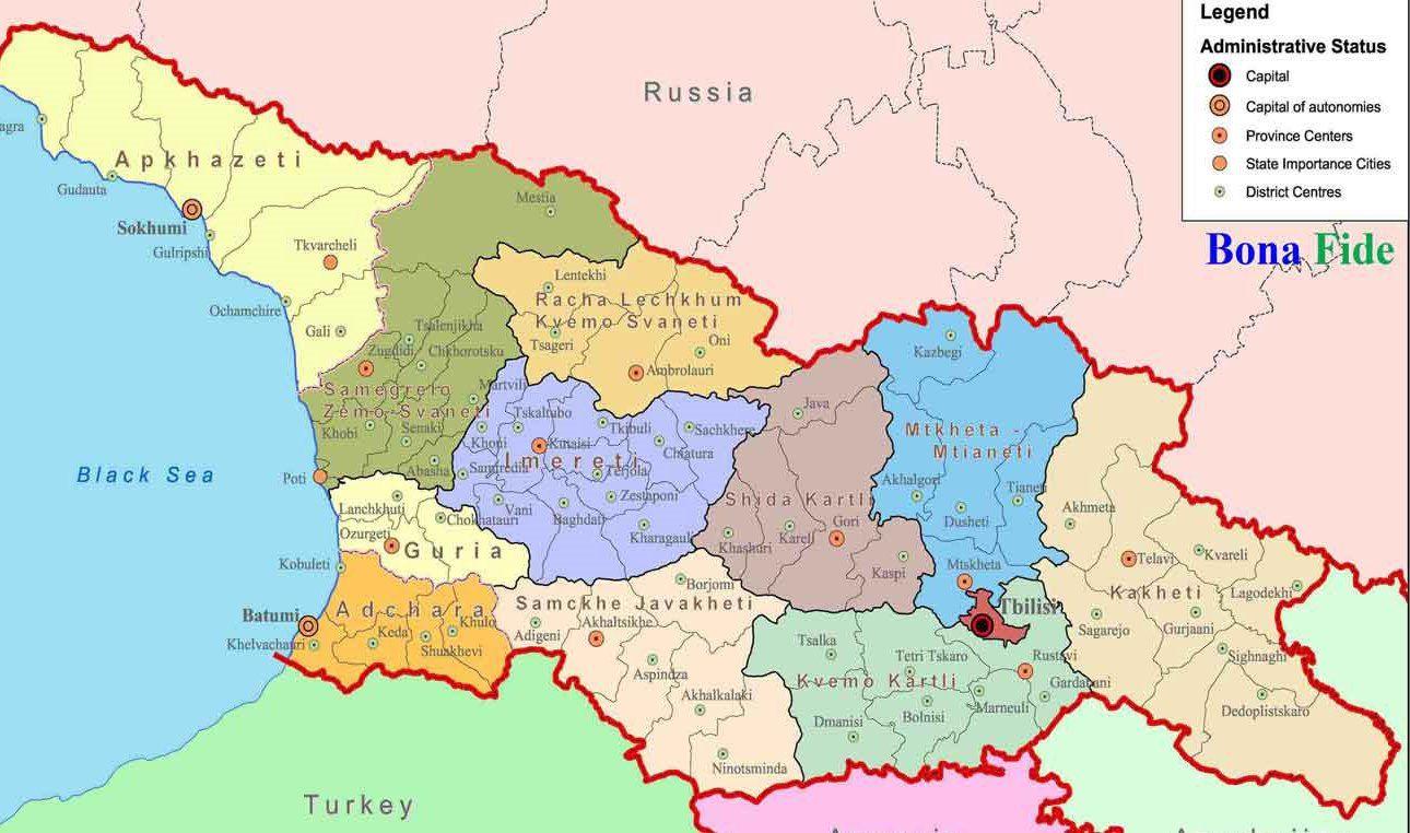 نقشه گرجستان