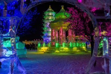 فستیوال سازههای یخی و برفی هاربین - چین