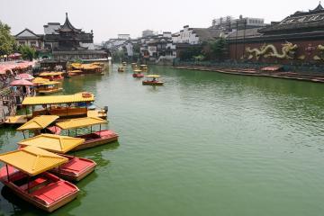 رودخانه Qinhuai در نانجینگ - چین