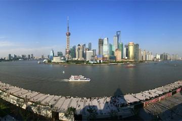 ناحیه The Bund و رودخانه هوآنگپو در شانگهای - چین
