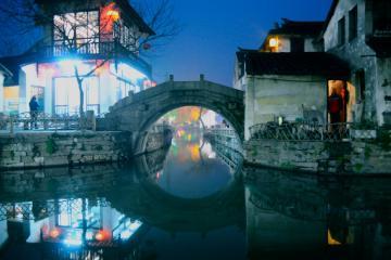 شهر آبی Zhouzhuang در سوژو - چین