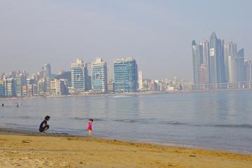 ساحل گوانگالی در بوسان - کره جنوبی